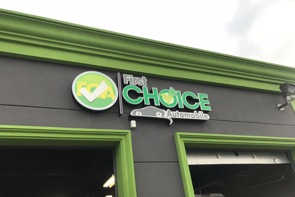 First Choice Automobile business sign